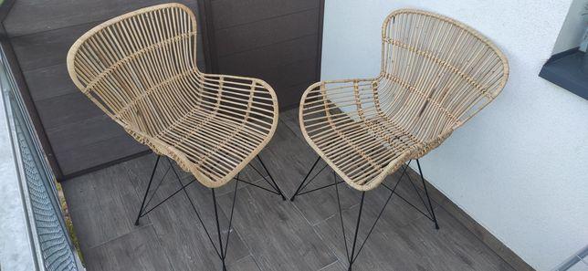 Krzesła na balkon , taras , wiklinowe 200zł + 100zł