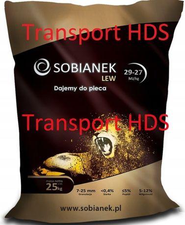 Ekogroszek SOBIANEK LEW GOLD - węgiel workowany transport HDS