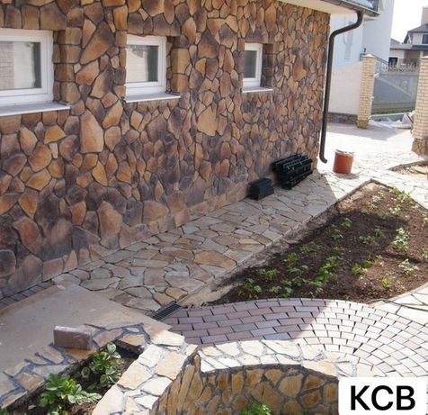 Укладка природного камня гранит,сланец,ФЭМ,Печятный бетон-200 грн кв.м