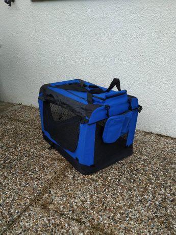 Transportadora nylon, dobrável para cães e gatos