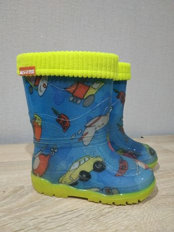 Гумові чоботи (сапоги) дитячі Alisa line з утепленим валяночком
