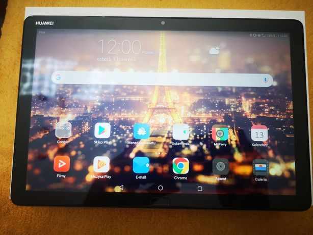 "Tablet Huawei Mediapad M5 Lite LTE WiFi idealny 3/32 10.1"""