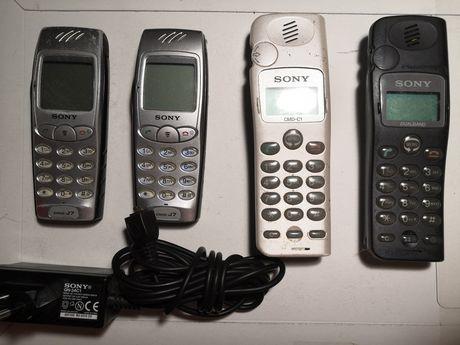 Stare telefony Sony CMD C1 J7 CD5 na klawisze uszkodzone nietestowane