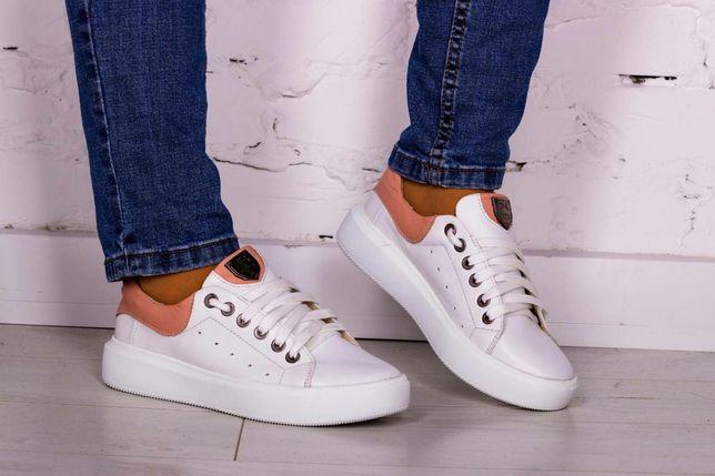 36,37,38,39,40 натуральные кожаные белые кеды кроссовки