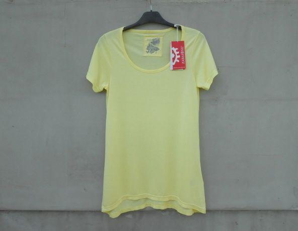 Nowa koszulka t-shirt tunika żółta
