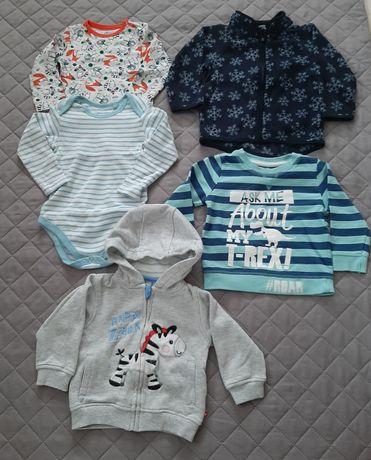 Ubrania dla chłopca rozmiar 80