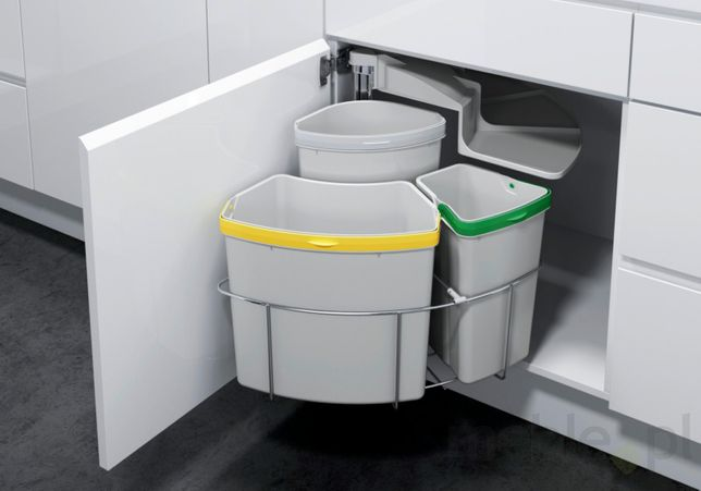 szafkowy kosz do segregacji odpadów