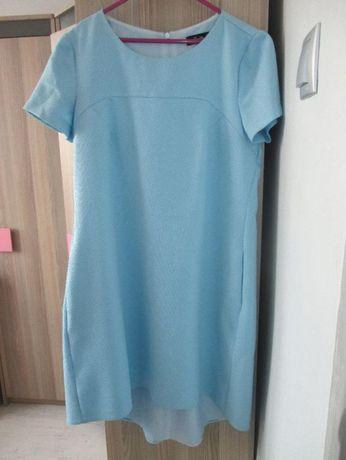 ciążowa niebieska suknia w rozmiarze M