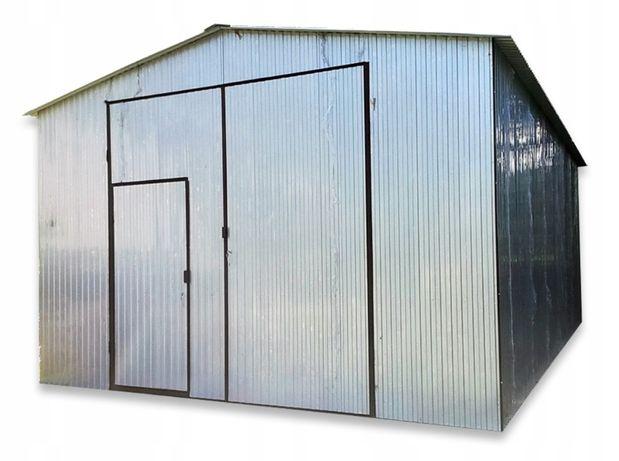 Blaszany garaż 5x8 wiaty hale dach dwuspadowy