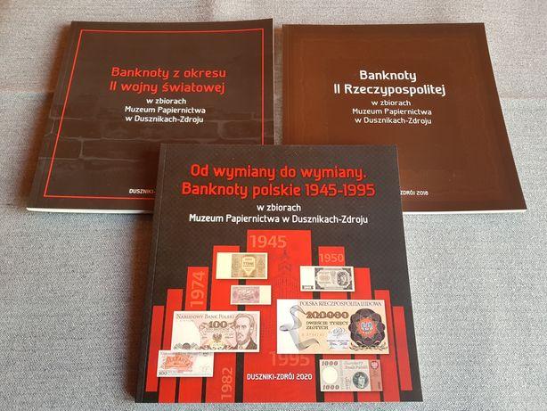 BANKNOTY POLSKIE 1919- 1995r II RP Okupacja PRL Denominacja 3 KATALOGI