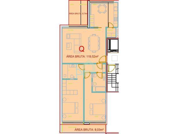 Apartamento novo, dois quartos, centro da cidade de Barce...