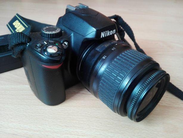 -Nikon D60+bateria+ładowarka -Nikkor 18-55 -Nikkor 55-200 -Nikon SB-40