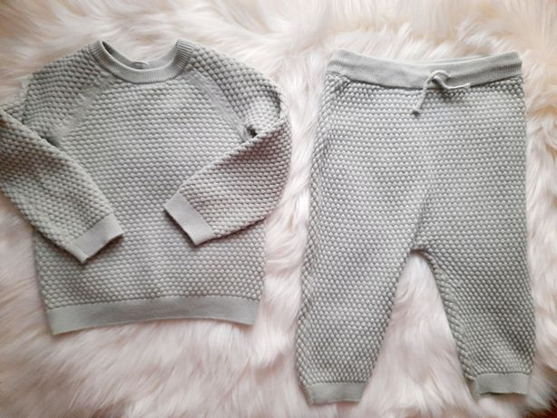 Komplet z dzianiny H&M Baby Exclusive r.74