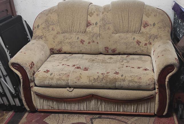 Sprzedam sofa rozkładana z pufami