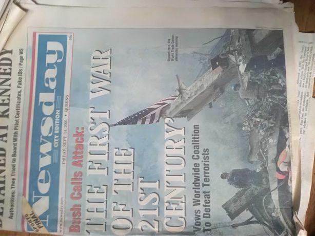 Pamiątkowa gazeta z ataku na WTC 2001r.