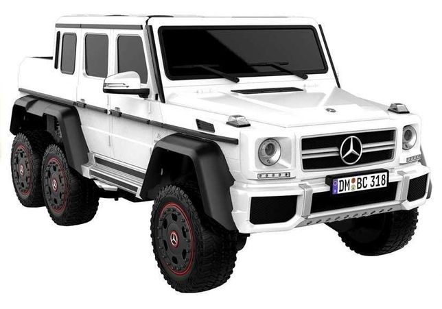 Auto na Akumulator Mercedes G63 Biały 6x4