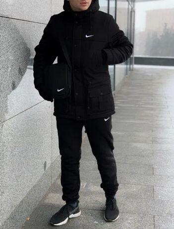 Парка + штаны Найк / до-30*С Куртка / зимний мужской костюм комплект