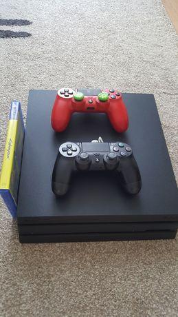 Konsola Sony Playstation 4 PRO 1TB SSHD +CYBERPUNK +2 Pady CUH 7116B
