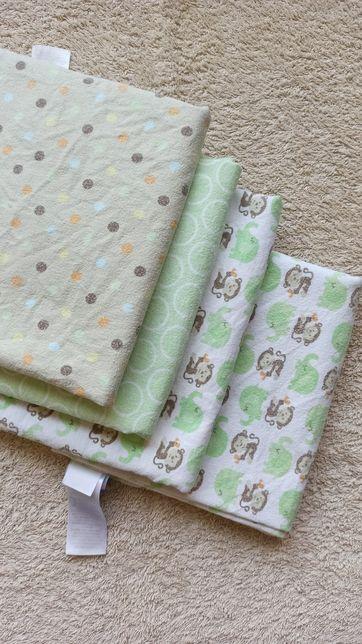 Набор фирменных пеленок для новорожденного  72х72, недорого