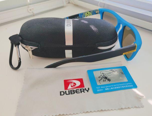 Солнцезащитные поляризационные очки DUBERY, антибликовые, зеркальные.