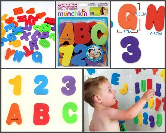 """Аква буквы """"Буквы английский алфавит и цифры"""" липнут к ванне и кафелю"""