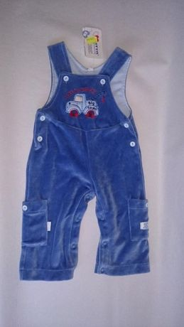 Spodnie odrodniczki niebieskie rozmiar 68 NOWE !!!