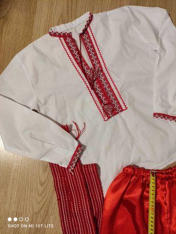 Український костюм на хлопця  вишиванка шаровари пояс 6-9 років.