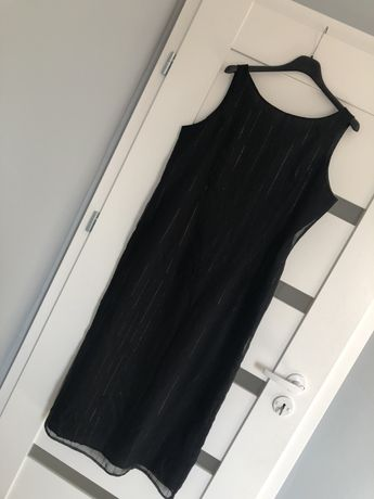 Piękna damska sukienka czarna 44 nowa