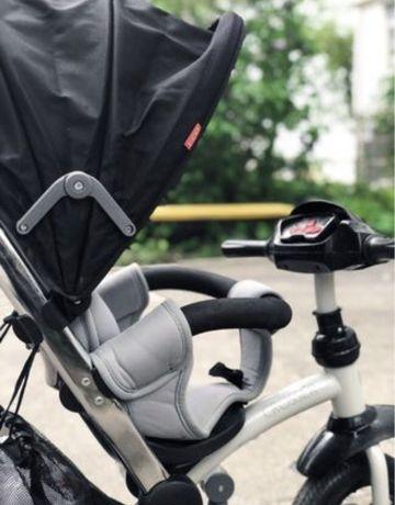 Трехколесный велосипед crosser t 350 eco с родительской ручкой коляска