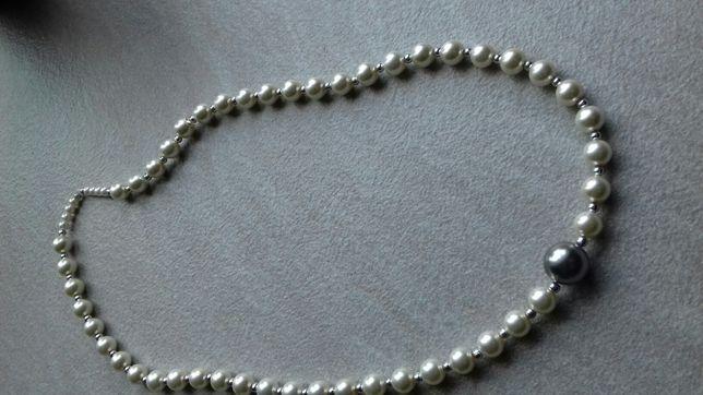 Korale koraliki naszyjnik sznur korali perłowe 65 cm nowe
