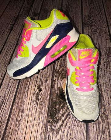Кожаные кроссовки Nike air max для девочки, размер 38 (24 см)