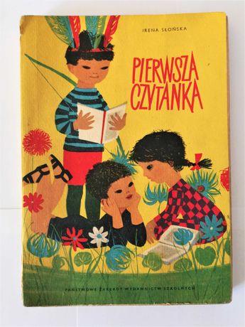 Książka Pierwsza czytanka Irena Słońska wydawnictwo powojenne