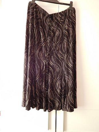 Czarna długa spódnica damska rozmiar 48 UK 20 plus size