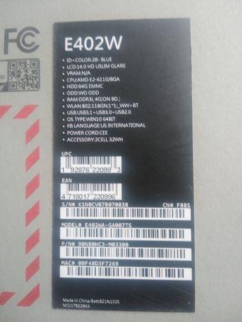 Laptop  Asus 14 cali