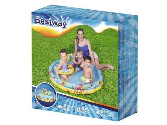 Bestway SET Basen piłka kółko brodzik 122cm 51124