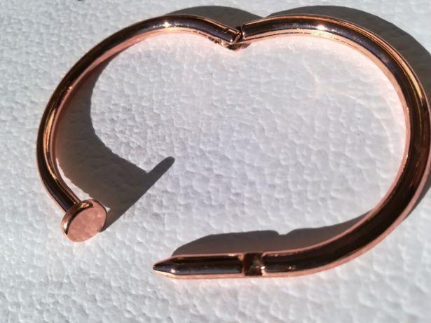 Pulseira nail aço dourado - Nova - Dior Tous Herrera Pandora Gucci