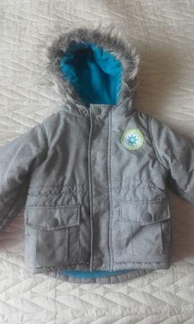 Zimowa kurtka chłopięca rozmiar 86