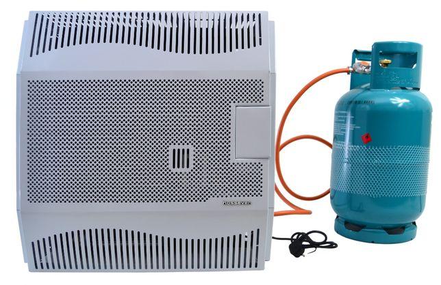 Konwektor gazowy żeliwny z wentylatorem 5 kW,piecyk na butle, grzejnik