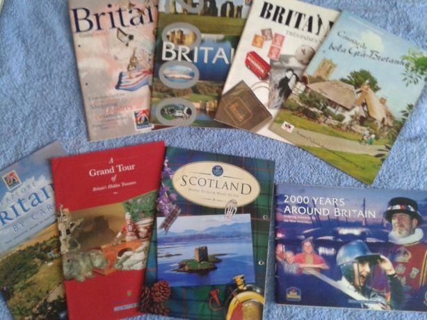 LOTE 8 revistas turísticas sobre o REINO UNIDO, E BRINDE