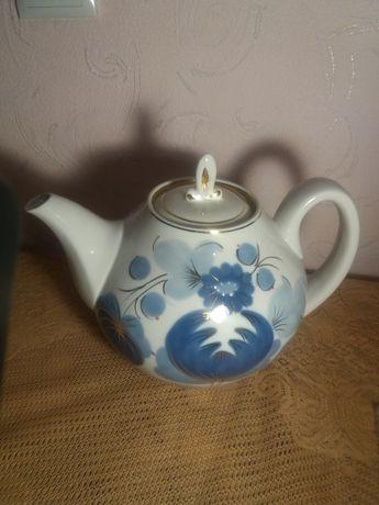 Большой фарфоровый чайник 3 литра СССР.