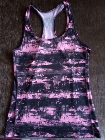 Bokserka neonowa H&M SPORT koszulka na ramiączka podkoszulka