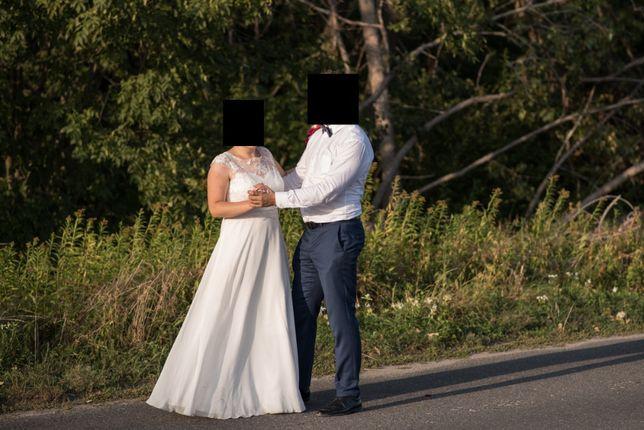 Przepiekna prosta suknia slubna rozmiar 40-42