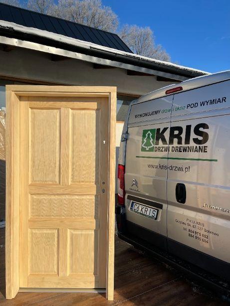 Drzwi sosnowe wewnątrzklatkowe z oscieżnicą regulowaną CAŁY POLSKA