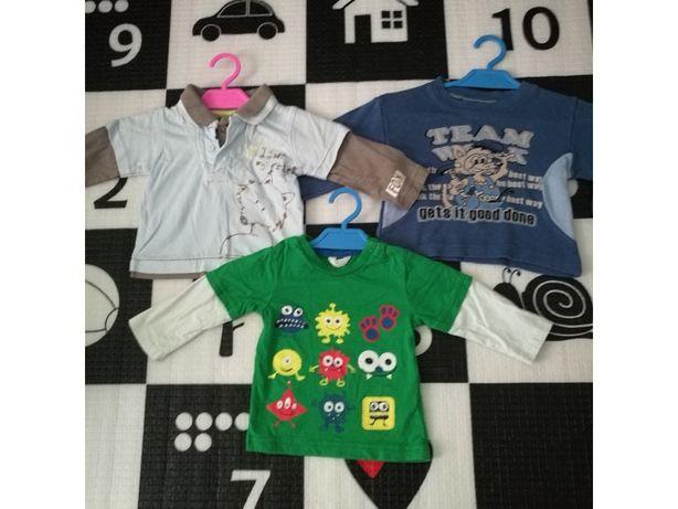 Ubranka dla chłopca, paka dla chłopaka, rozmiar 68 bluzki długi rękaw