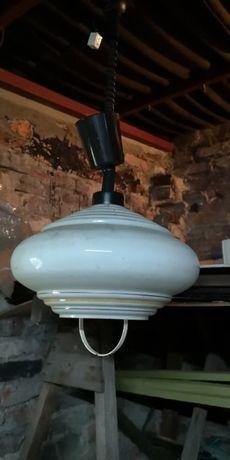 Lampa żyrandol kuchenny z PRL vintage retro old loftowy