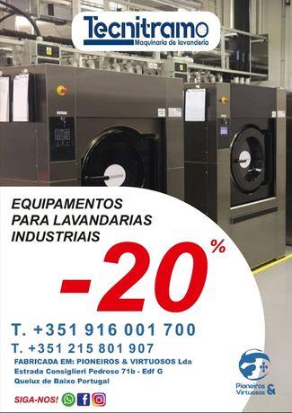 Máquina de lavar e secar roupa industrial