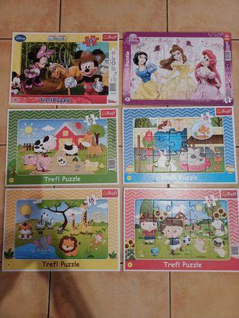 Zestaw puzzli Puzzle Trefl 15 elementów 6szt