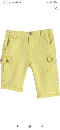 Брюки Chicco, жёлтого цвета, б/у, размер на 1 год