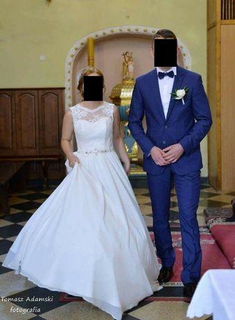 Sprzedam Piękną Suknię Ślubną Rozmiar 34 - 36 BDB stan