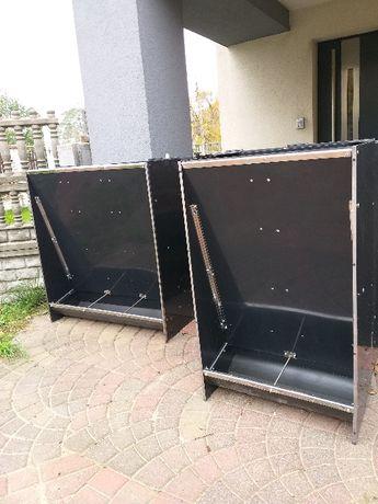 KARMNIK trzystanowiskowy 180l do karmienia TUCZNIKÓW/automaty paszowe